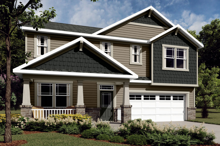 Logan Plan Elevation Front at Braeburn in Indian Trail North Carolina by Mattamy Homes