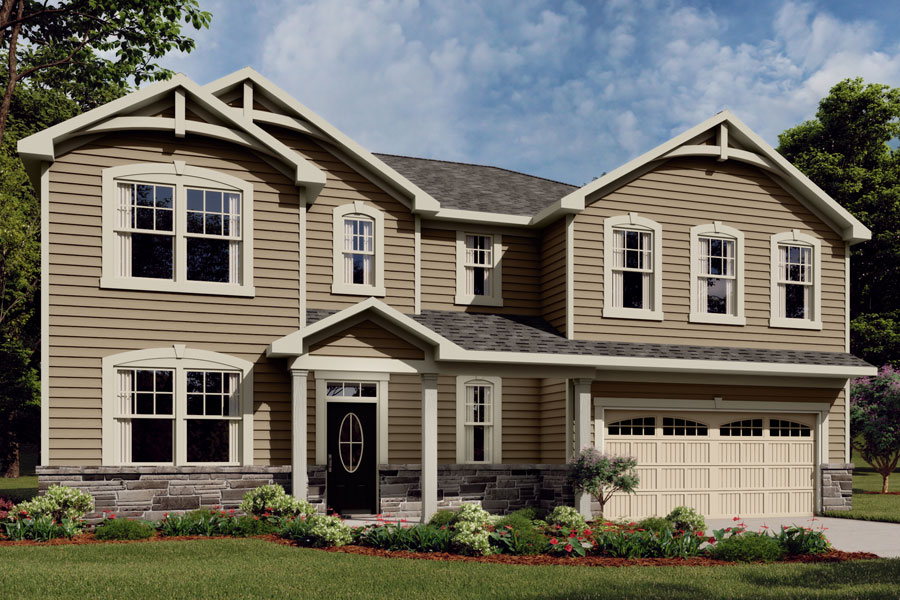 Marshall Plan Elevation Front at Braeburn in Indian Trail North Carolina by Mattamy Homes