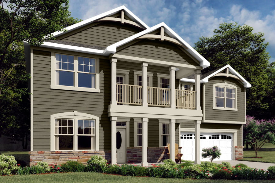 Parker Plan Elevation Front at Braeburn in Indian Trail North Carolina by Mattamy Homes