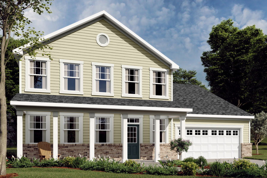 Winston Plan Elevation Front at Braeburn in Indian Trail North Carolina by Mattamy Homes