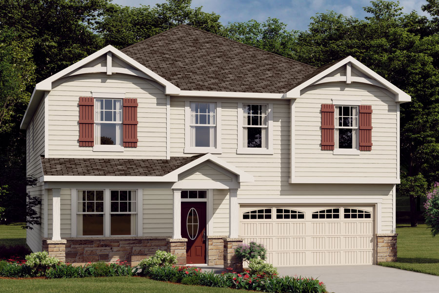 Crosby Plan Elevation Front at Cheyney in Charlotte North Carolina by Mattamy Homes