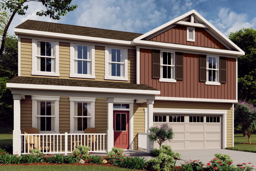 Logan Plan Elevation Front at Cheyney in Charlotte North Carolina by Mattamy Homes