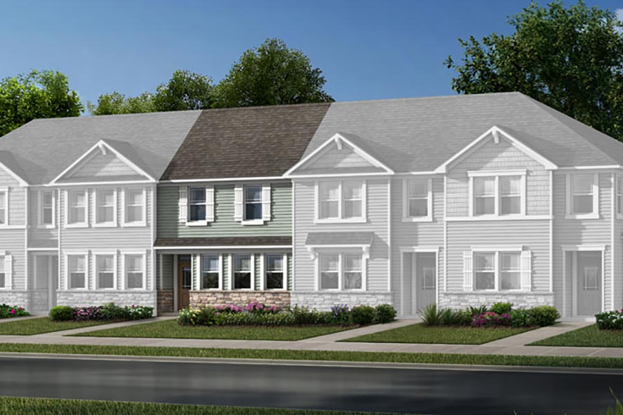 Ava Plan TownHomes at Galloway Park in Charlotte North Carolina by Mattamy Homes