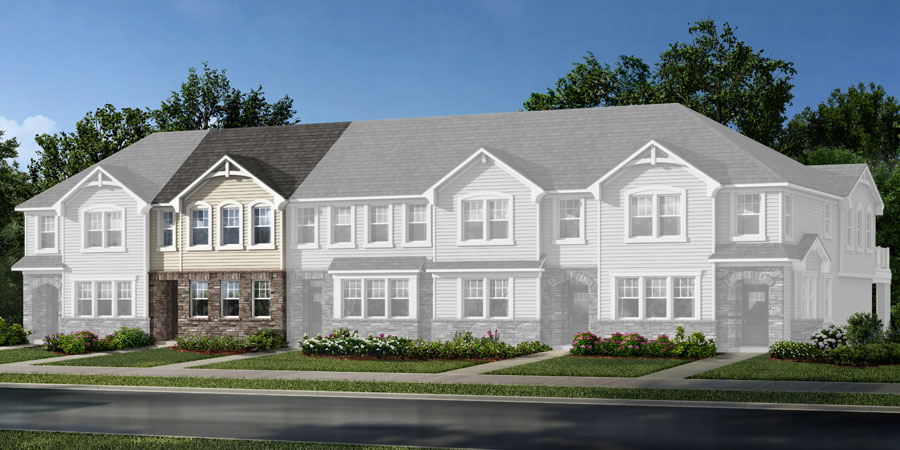 Ava Plan Elevation Front at Galloway Park in Charlotte North Carolina by Mattamy Homes