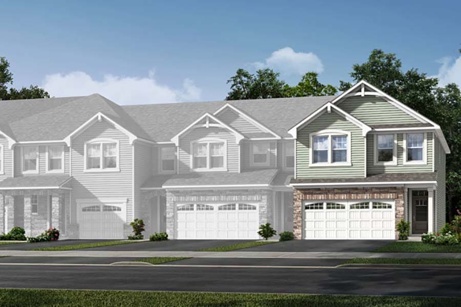 Blayre Plan Elevation Front at Porter's Row in Charlotte North Carolina by Mattamy Homes
