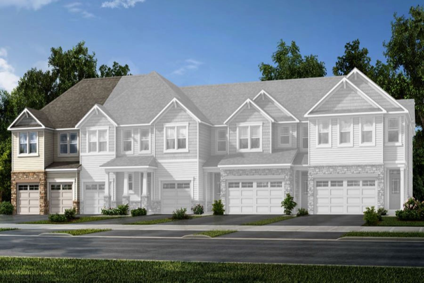 Clifton Plan TownHomes at Galloway Park in Charlotte North Carolina by Mattamy Homes