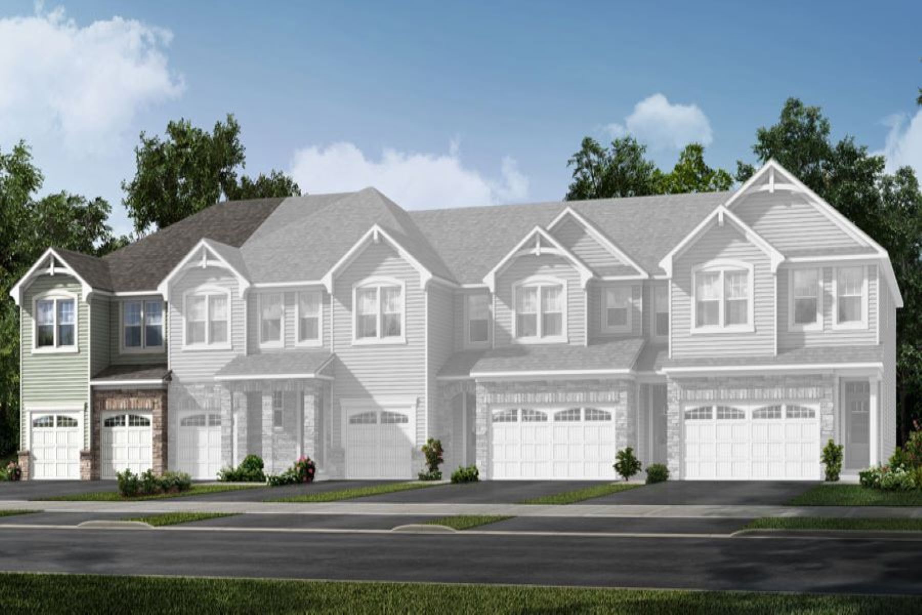 Clifton Plan Elevation Front at Galloway Park in Charlotte North Carolina by Mattamy Homes