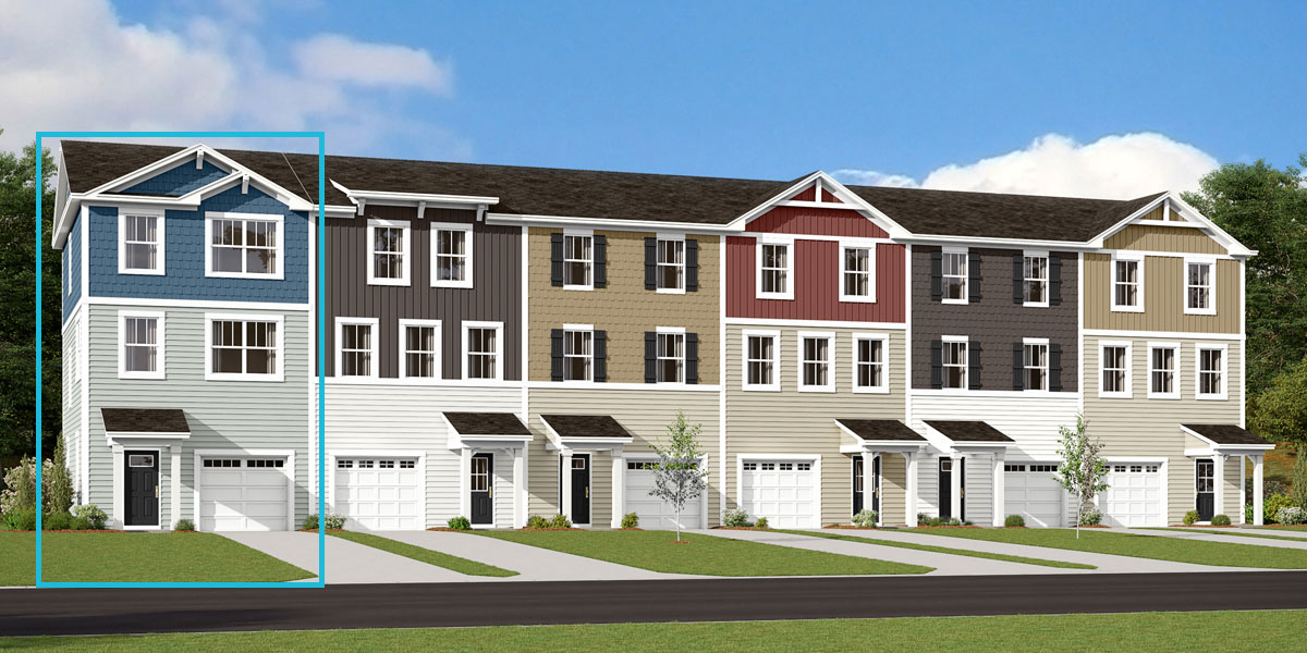 Harmony End Plan TownHomes at Pleasant Grove in Charlotte North Carolina by Mattamy Homes