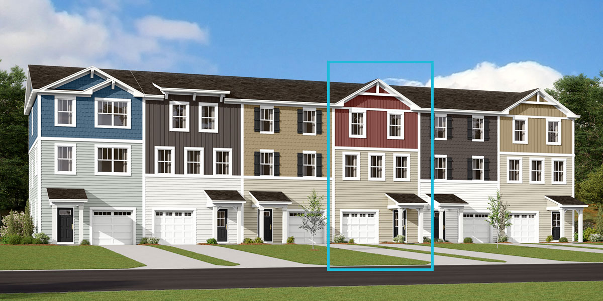 Harmony Plan TownHomes at Pleasant Grove in Charlotte North Carolina by Mattamy Homes