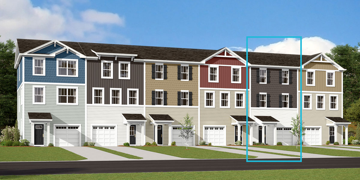 Noel Plan TownHomes at Pleasant Grove in Charlotte North Carolina by Mattamy Homes