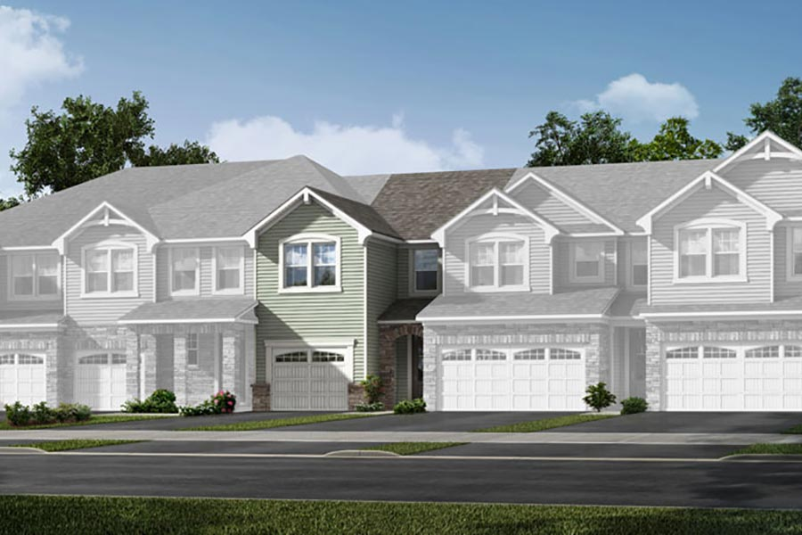 Brooke Plan TownHomes at Porter's Row in Charlotte North Carolina by Mattamy Homes
