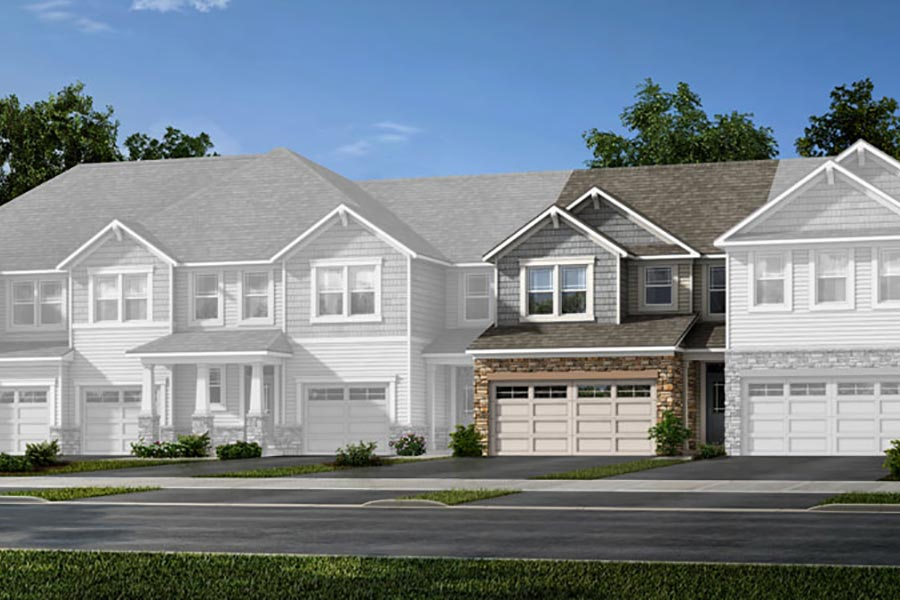 Claymore Plan TownHomes at Porter's Row in Charlotte North Carolina by Mattamy Homes