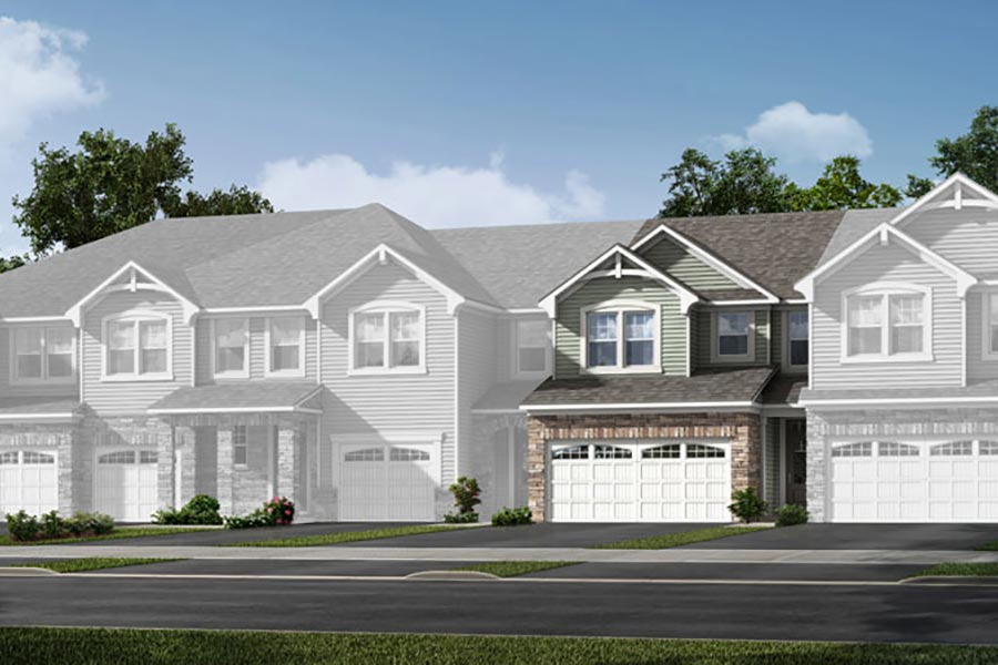 Brooke Plan Elevation Front at Porter's Row in Charlotte North Carolina by Mattamy Homes