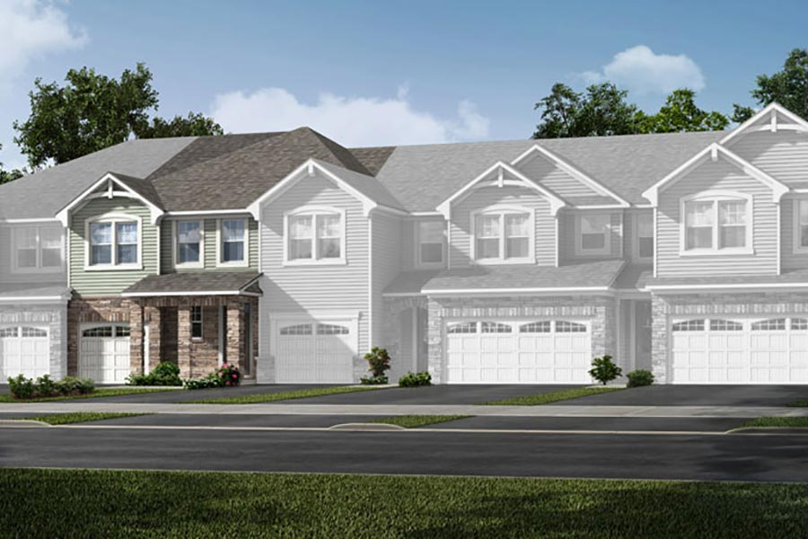 Frasier Plan Elevation Front at Porter's Row in Charlotte North Carolina by Mattamy Homes