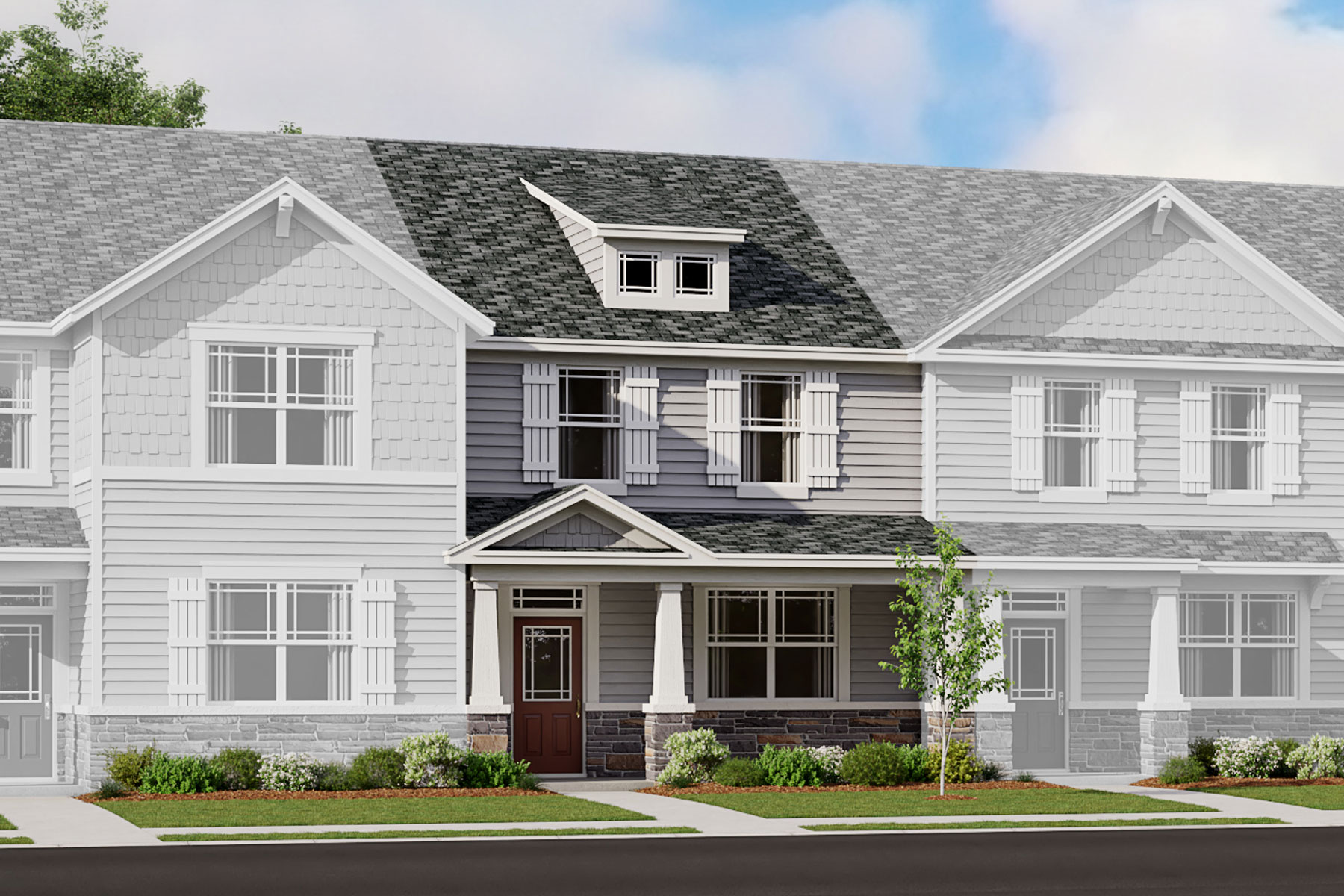 Murray Plan TownHomes at Porter's Row in Charlotte North Carolina by Mattamy Homes