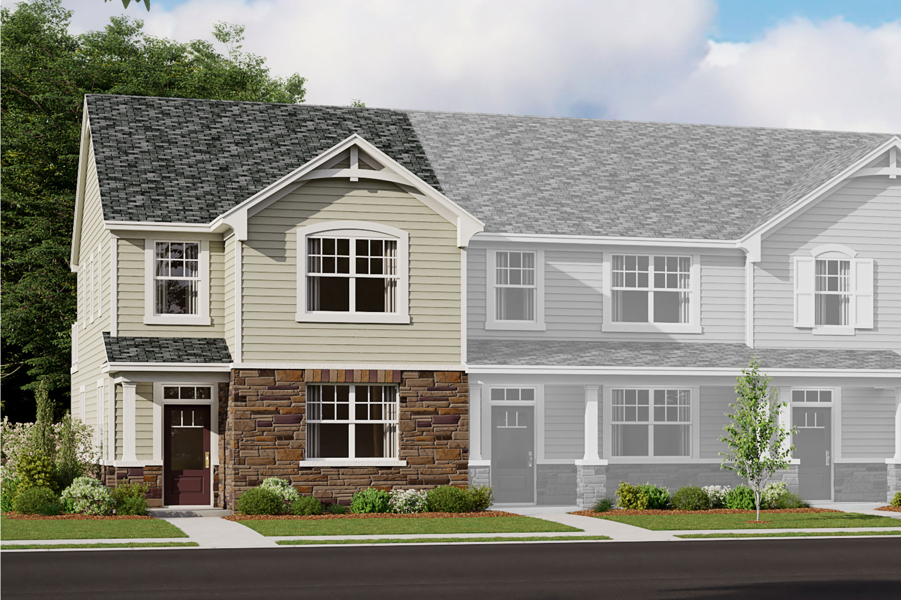 Owen Plan TownHomes at Porter's Row in Charlotte North Carolina by Mattamy Homes