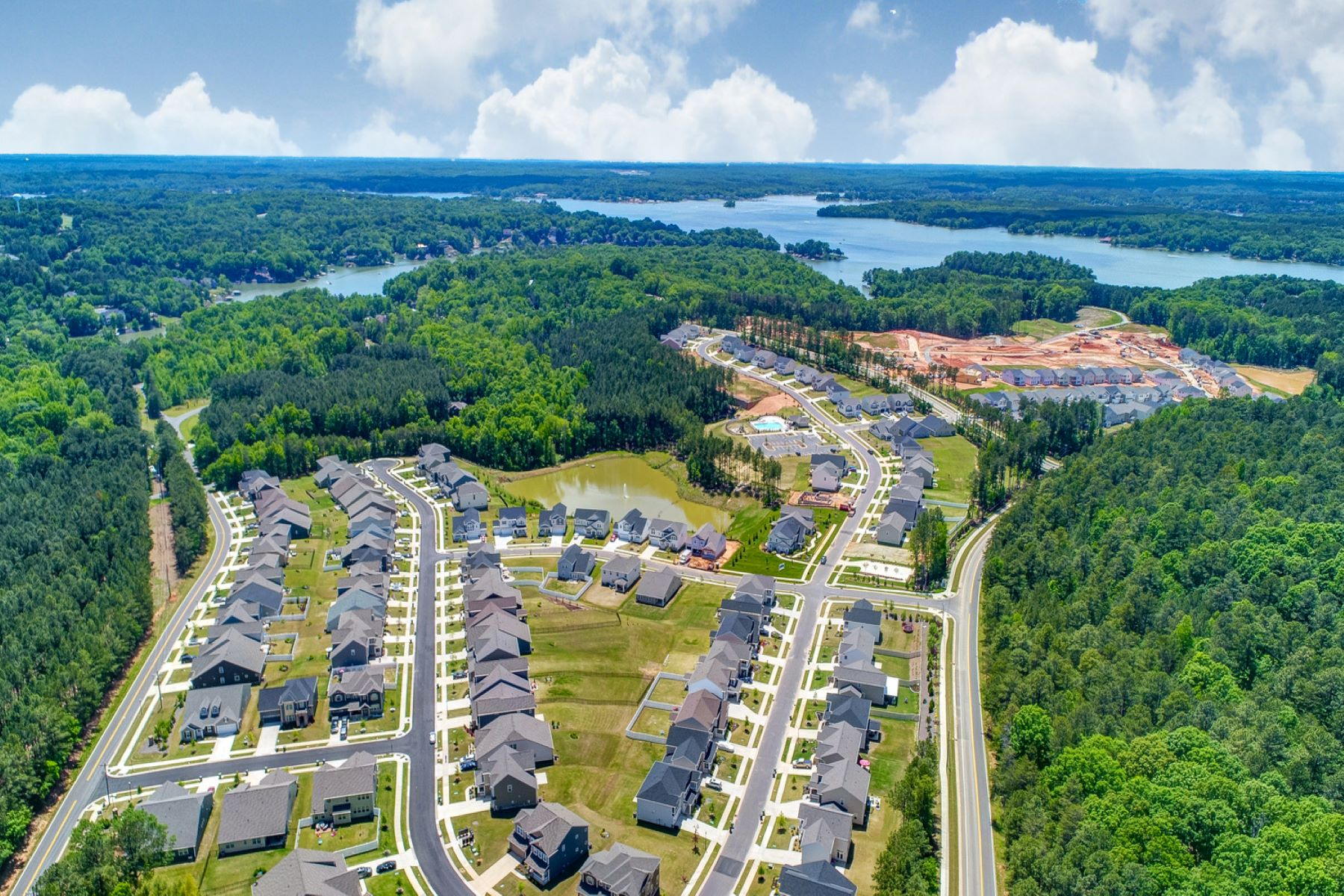 Ridgewater CLT_RDW_Overhead_with_Lake_1800x1200 in Charlotte North Carolina by Mattamy Homes