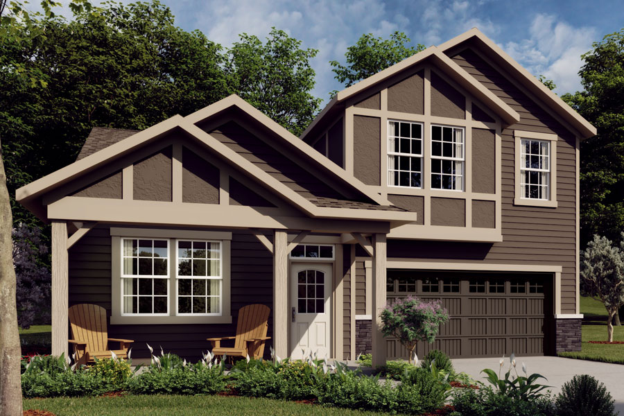 Amelia Plan Elevation Front at Ridgewater in Charlotte North Carolina by Mattamy Homes