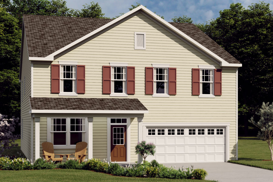 Crosby Plan Elevation Front at Ridgewater in Charlotte North Carolina by Mattamy Homes