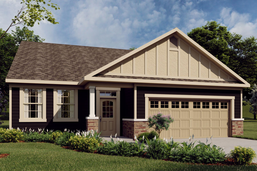 Evelyn Plan Elevation Front at Ridgewater in Charlotte North Carolina by Mattamy Homes