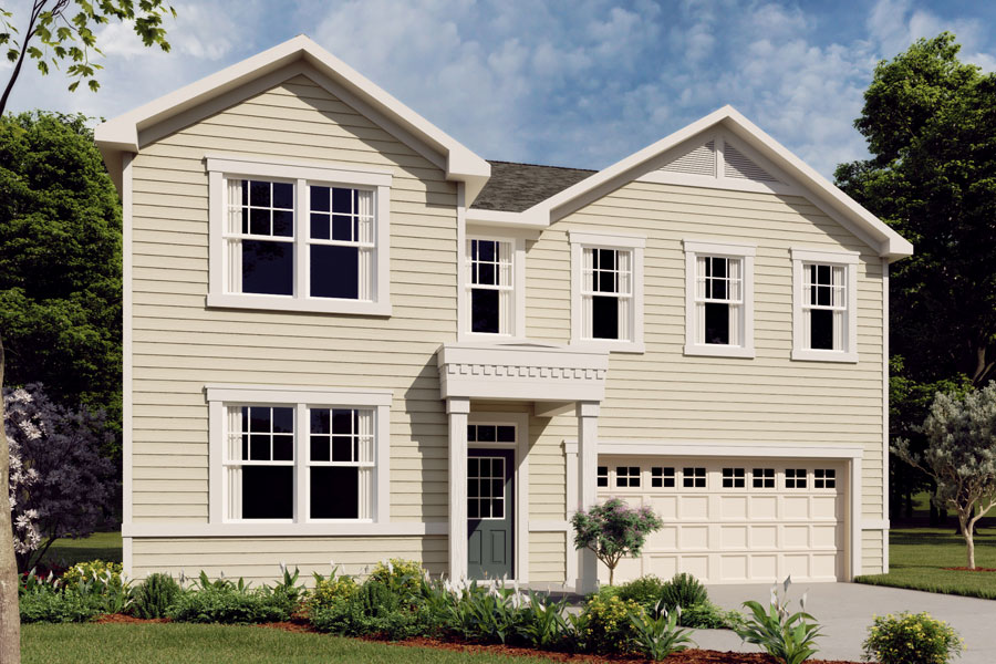Gaines Plan Elevation Front at Ridgewater in Charlotte North Carolina by Mattamy Homes