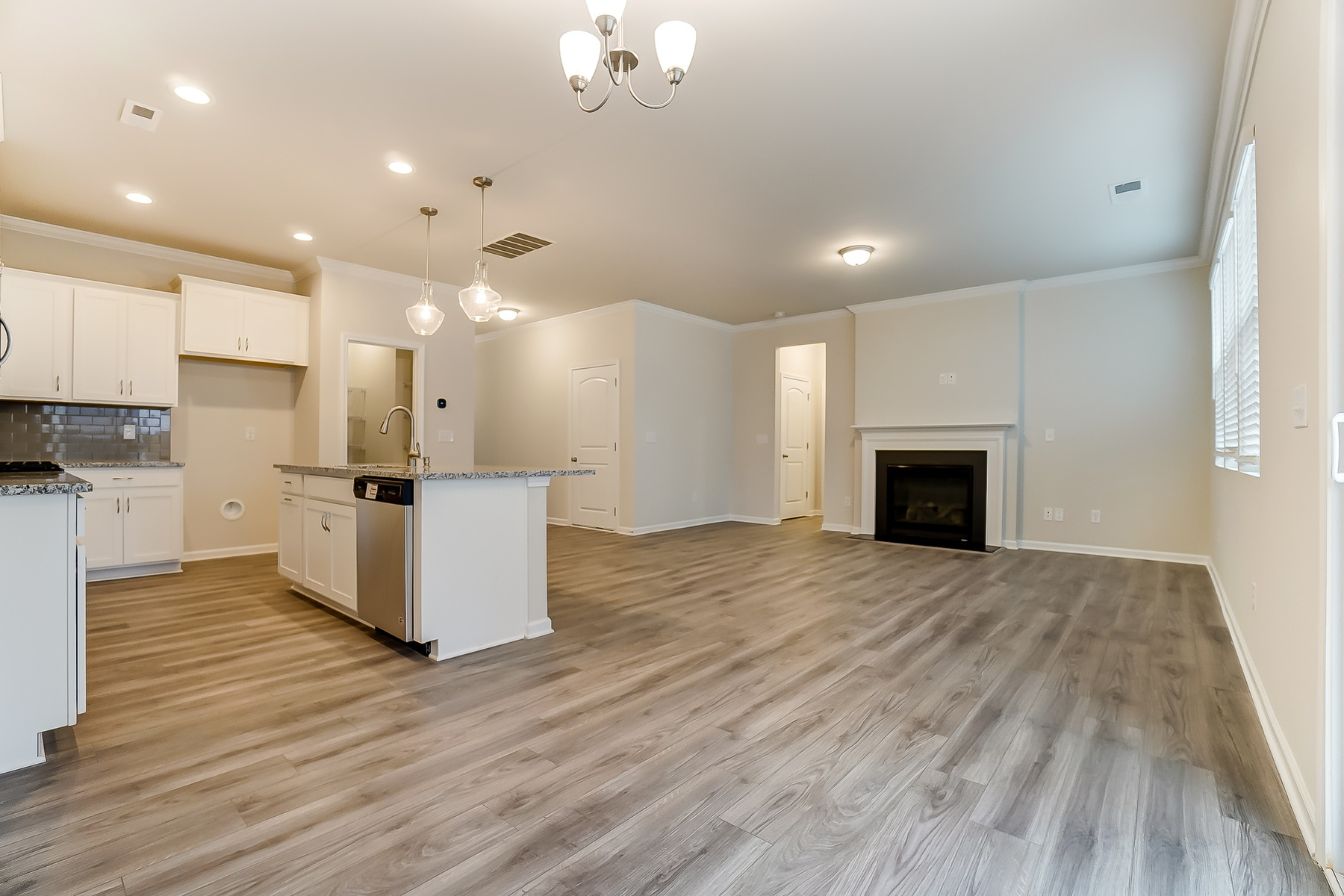 Gaines Plan Greatroom at Ridgewater in Charlotte North Carolina by Mattamy Homes