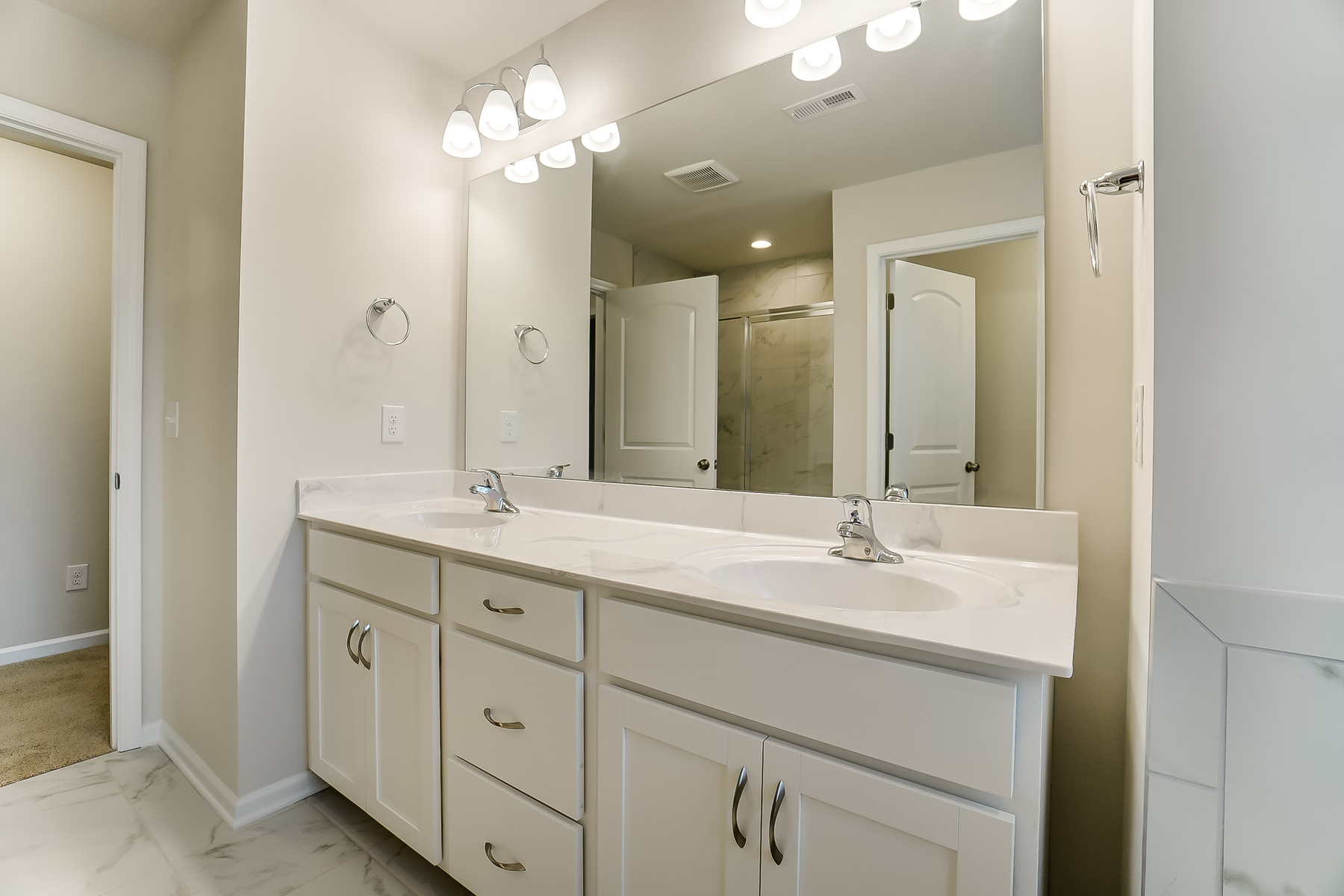 Gaines Plan Bathroom_Master Bath at Ridgewater in Charlotte North Carolina by Mattamy Homes
