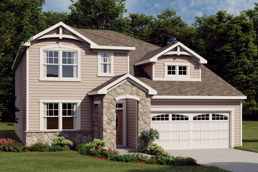 Nolan Plan Elevation Front at Ridgewater in Charlotte North Carolina by Mattamy Homes