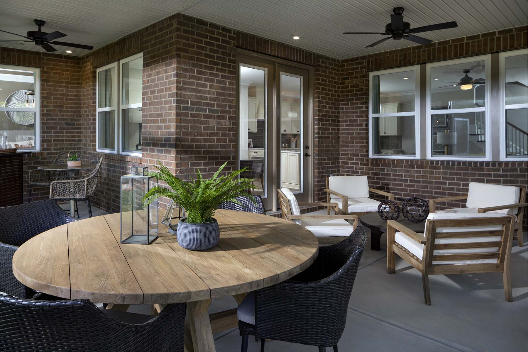 Armstrong Plan Patio at Sonata at Mint Hill in Mint Hill North Carolina by Mattamy Homes