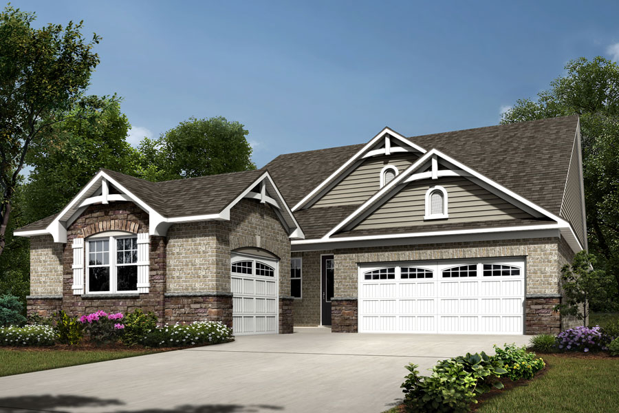 Astaire Plan Elevation Front at Sonata at Mint Hill in Mint Hill North Carolina by Mattamy Homes