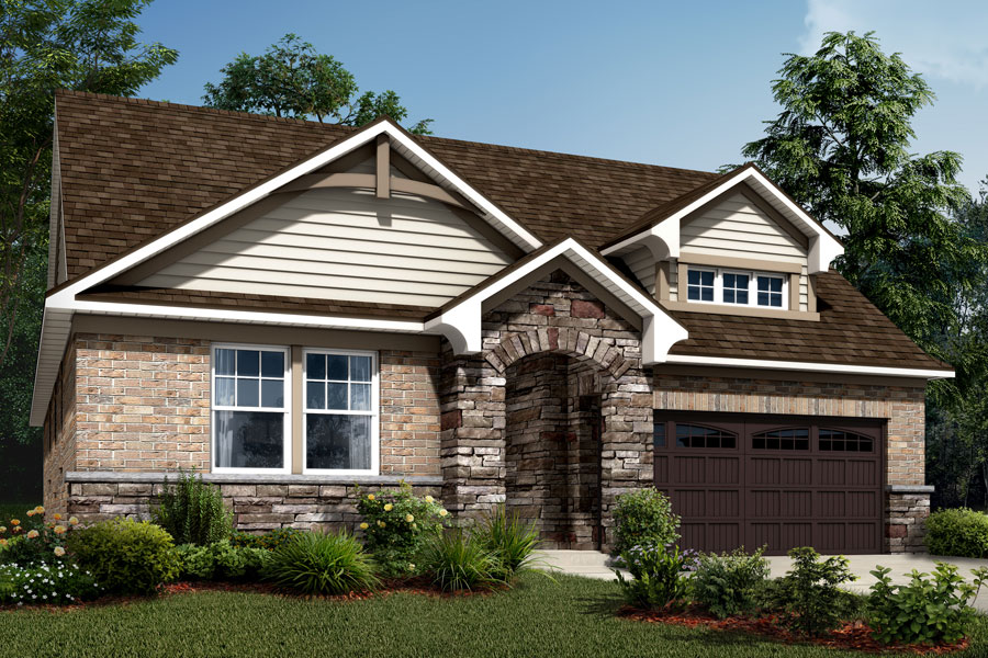 Bexley Plan Elevation Front at Sonata at Mint Hill in Mint Hill North Carolina by Mattamy Homes
