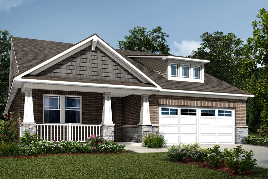 Cole Plan Elevation Front at Sonata at Mint Hill in Mint Hill North Carolina by Mattamy Homes