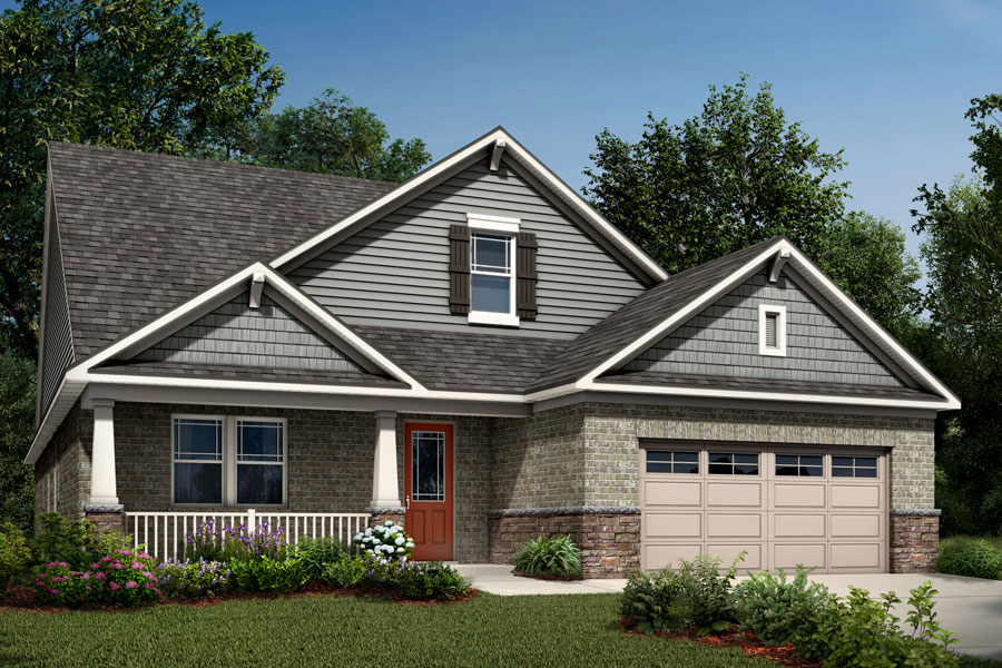 Garland Plan Elevation Front at Sonata at Mint Hill in Mint Hill North Carolina by Mattamy Homes