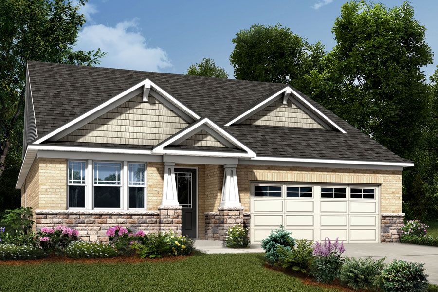 Presley Plan Elevation Front at Sonata at Mint Hill in Mint Hill North Carolina by Mattamy Homes