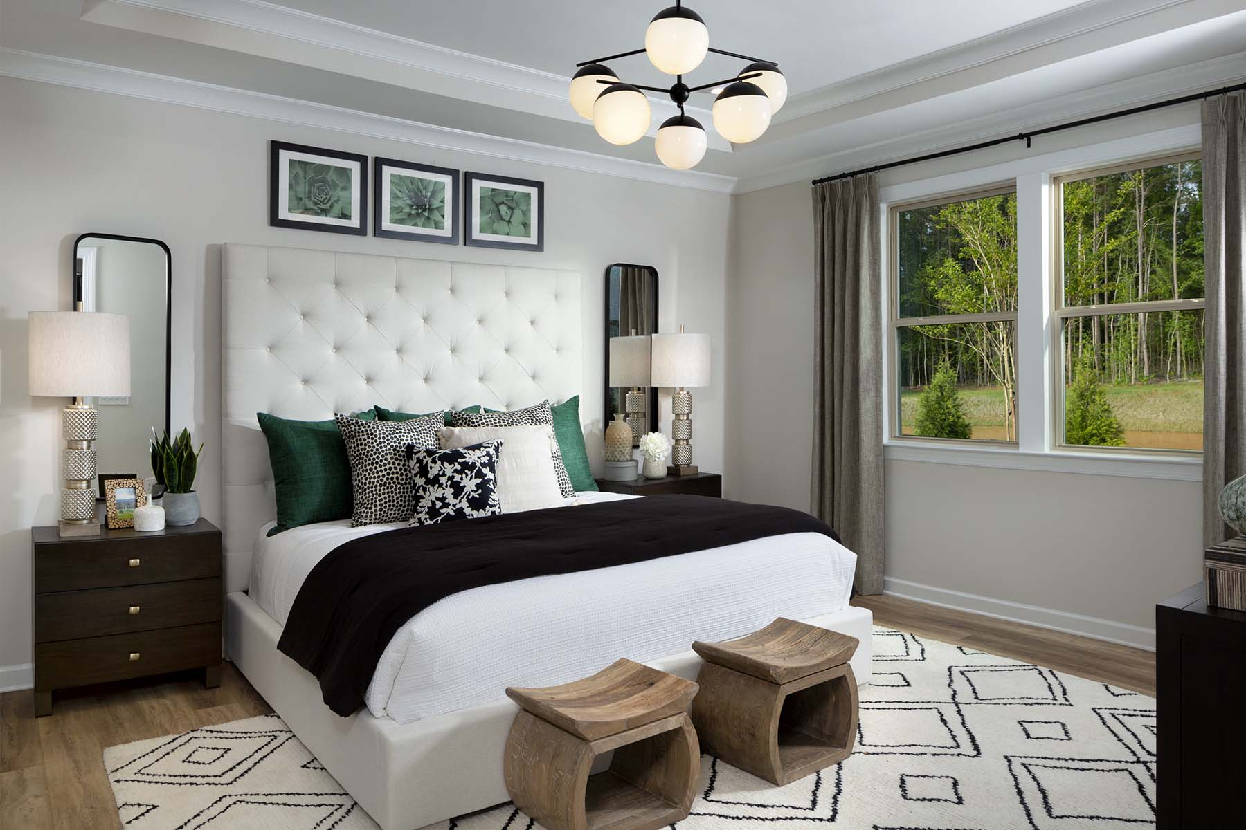 Presley Plan Bedroom at Sonata at Mint Hill in Mint Hill North Carolina by Mattamy Homes