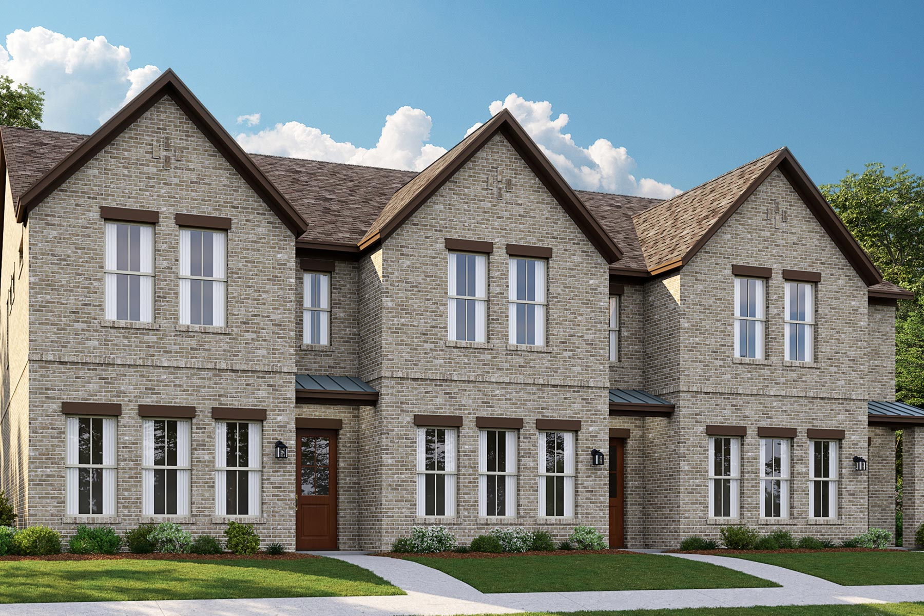 La Rosa Plan DAL_Barcelona_Townhomes_Elevation3_1800x1200 at Barcelona Townhomes in McKinney Texas by Mattamy Homes