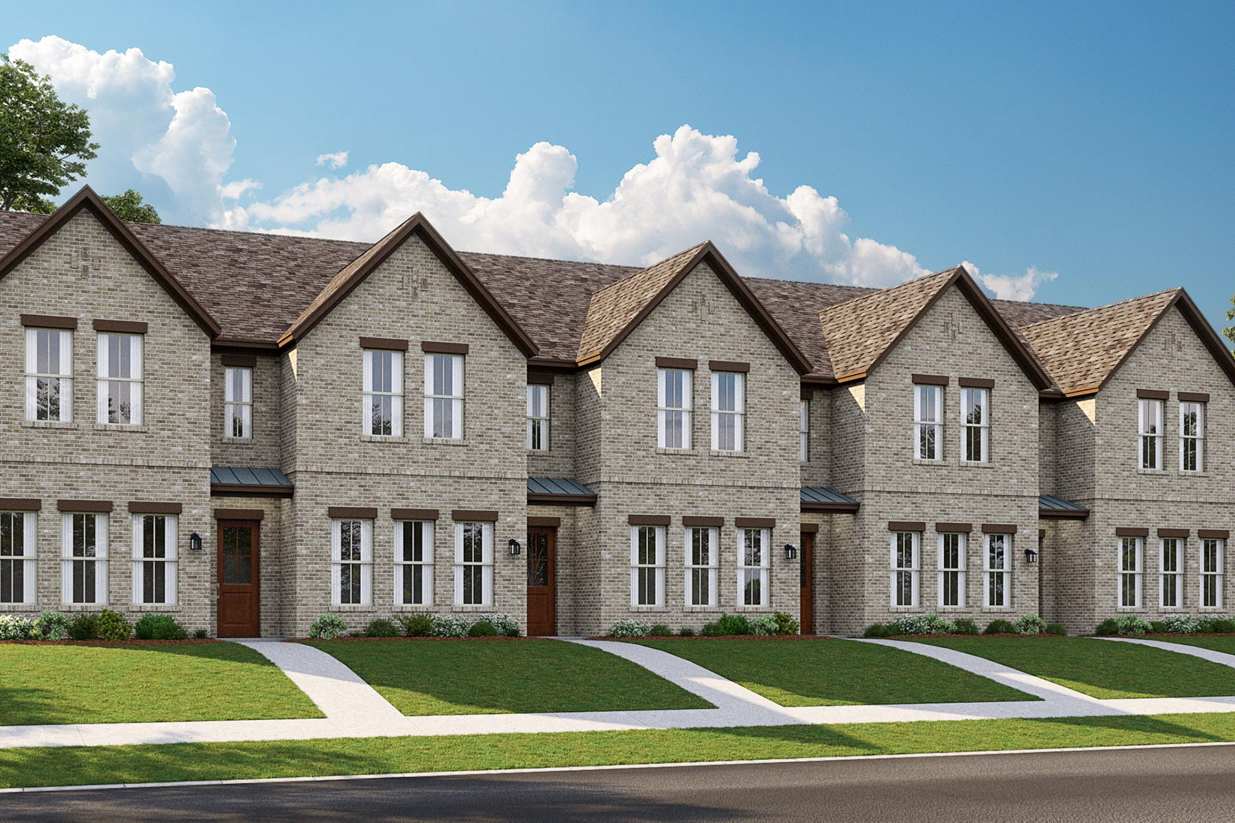 La Rosa Plan DAL_Barcelona_Townhomes_Elevation5_1800x1200 at Barcelona Townhomes in McKinney Texas by Mattamy Homes