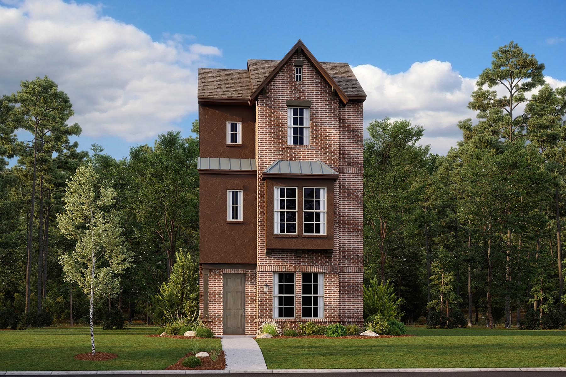 Albany Plan DAL_Albany_ElevationA_1800x1200 at Iron Horse Village in Mesquite Texas by Mattamy Homes