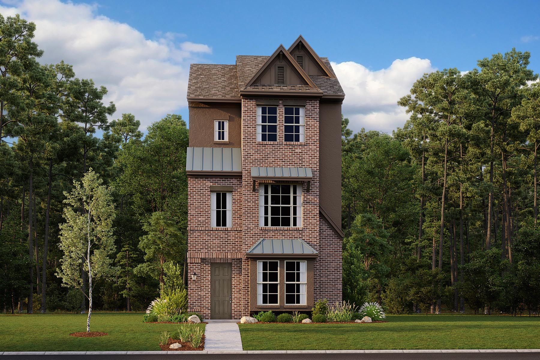 Atlantic Plan Elevation Front at Iron Horse Village in Mesquite Texas by Mattamy Homes