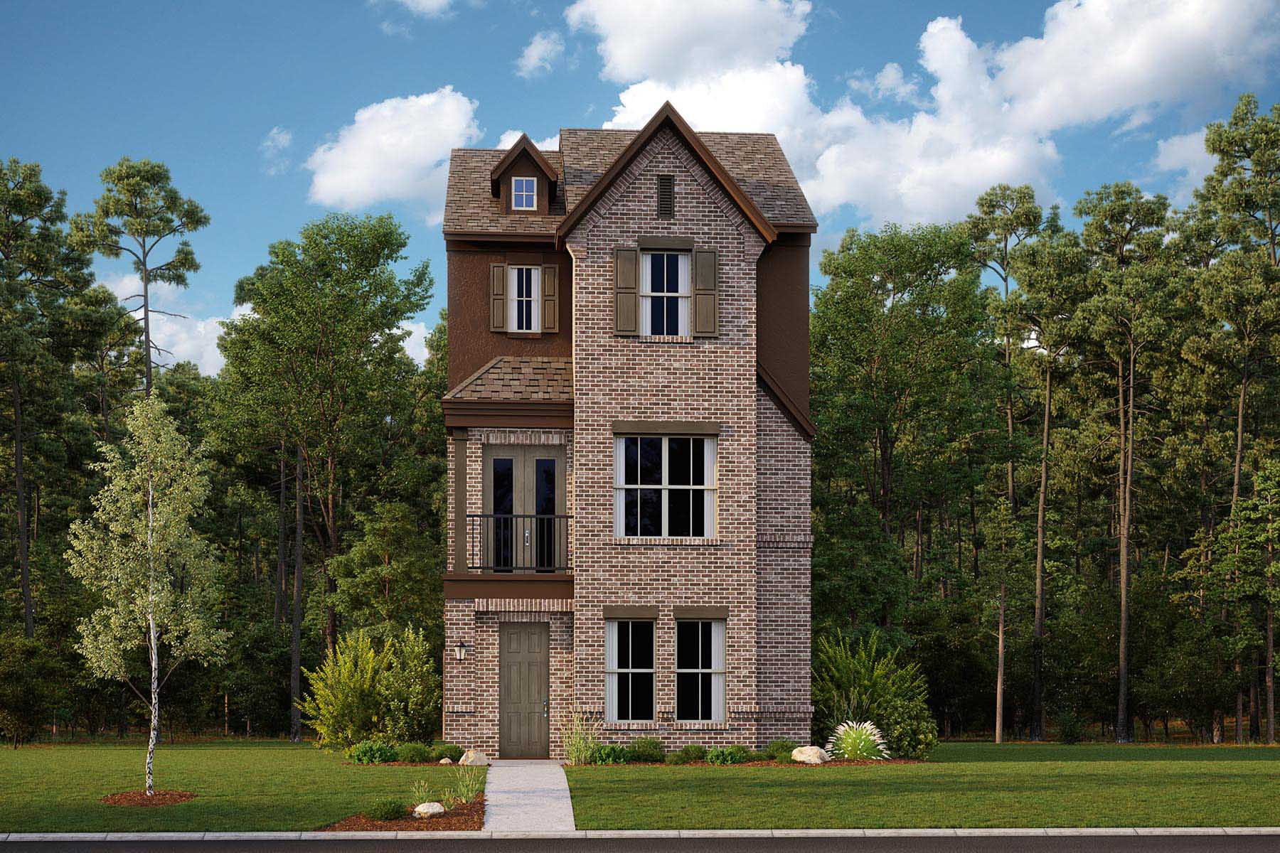 Mulberry Plan Elevation Front at Iron Horse Village in Mesquite Texas by Mattamy Homes