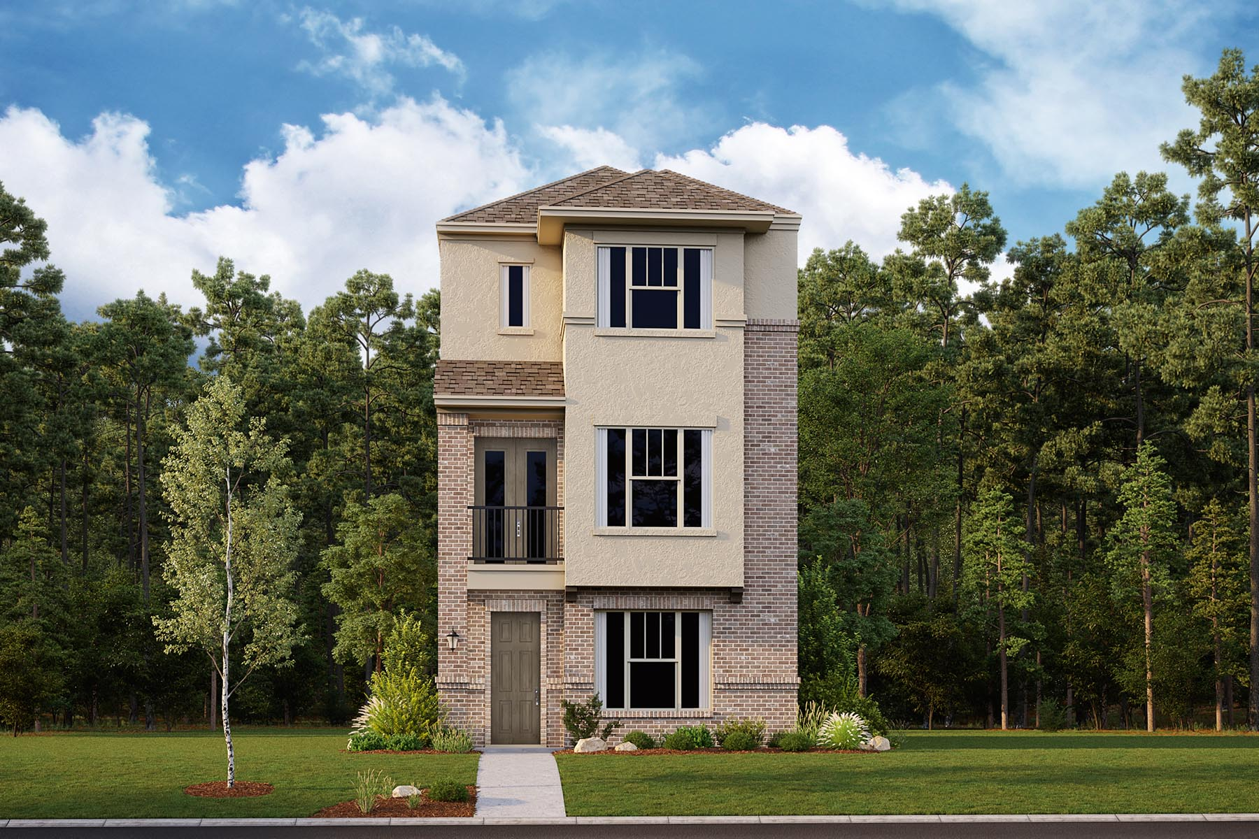 Mulberry Plan DAL_Mulberry_ElevationC_1800x1200 at Iron Horse Village in Mesquite Texas by Mattamy Homes
