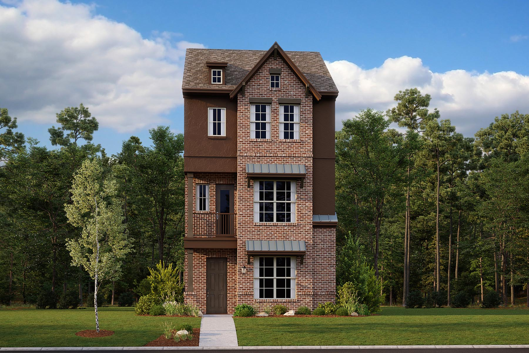 Oakforest Plan Elevation Front at Iron Horse Village in Mesquite Texas by Mattamy Homes