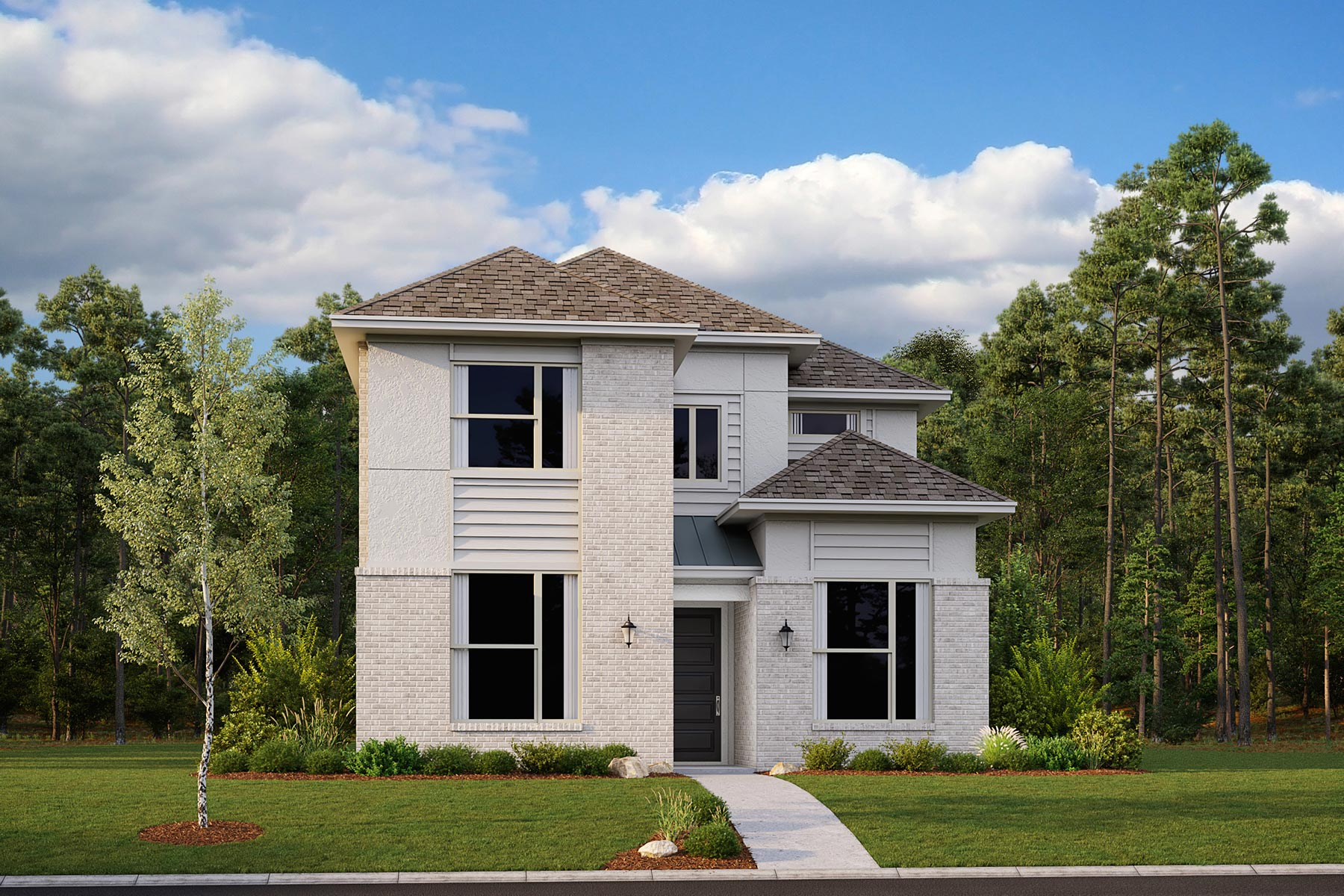 Aspen Plan Elevation Front at Kensington Place in Farmers Branch Texas by Mattamy Homes