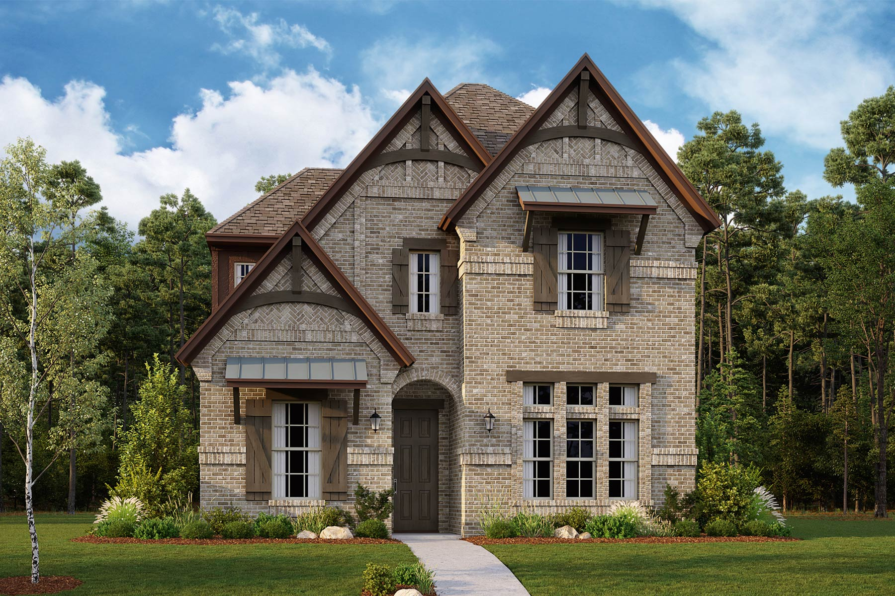 Brentwood Plan Elevation Front at Kensington Place in Farmers Branch Texas by Mattamy Homes