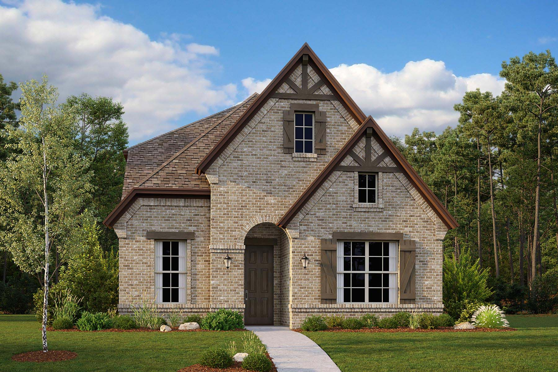 Camden Plan Elevation Front at Kensington Place in Farmers Branch Texas by Mattamy Homes