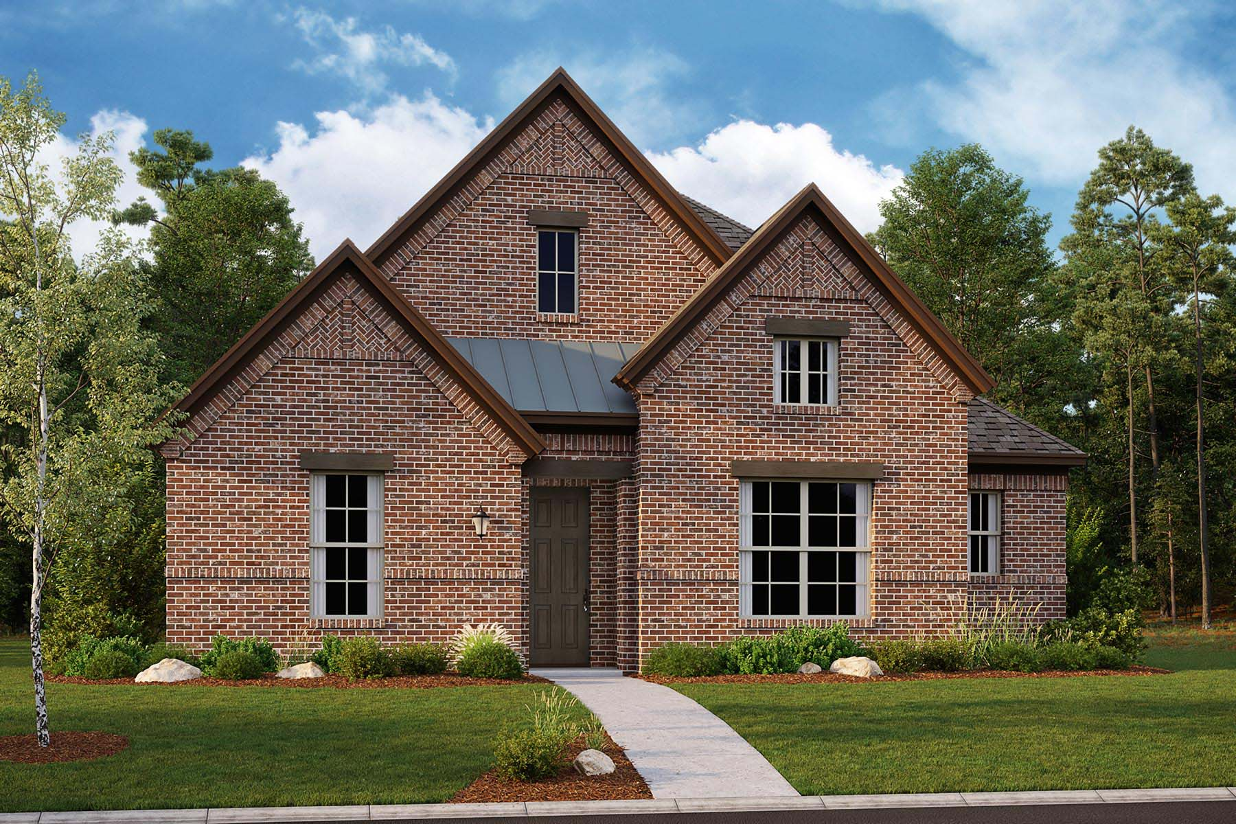Carmel Plan Elevation Front at Kensington Place in Farmers Branch Texas by Mattamy Homes