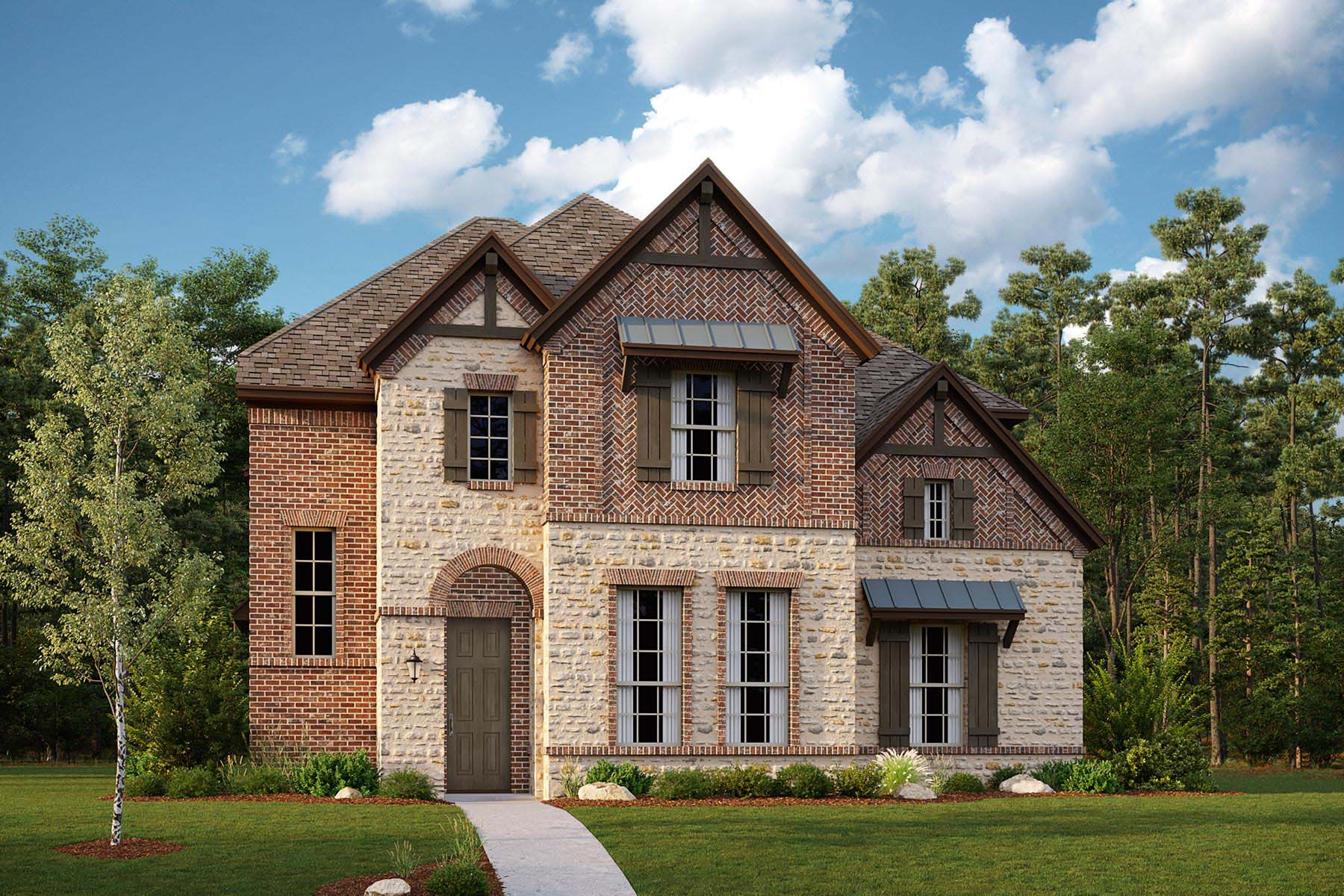 Rainier Plan Elevation Front at Kensington Place in Farmers Branch Texas by Mattamy Homes