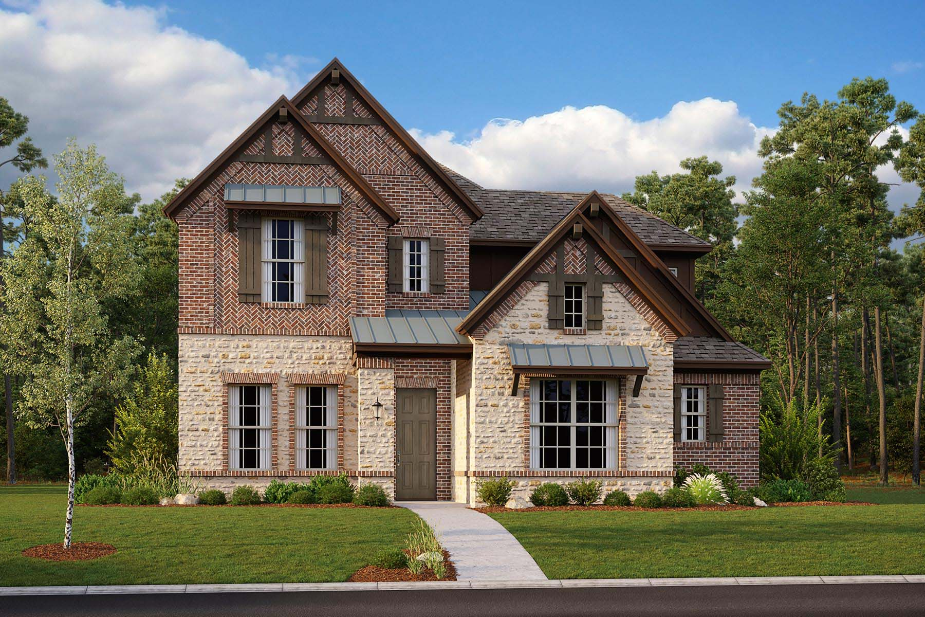 Summit Plan DAL_KensingtonPlace_Summit_ElevationA_1800x1200 at Kensington Place in Farmers Branch Texas by Mattamy Homes