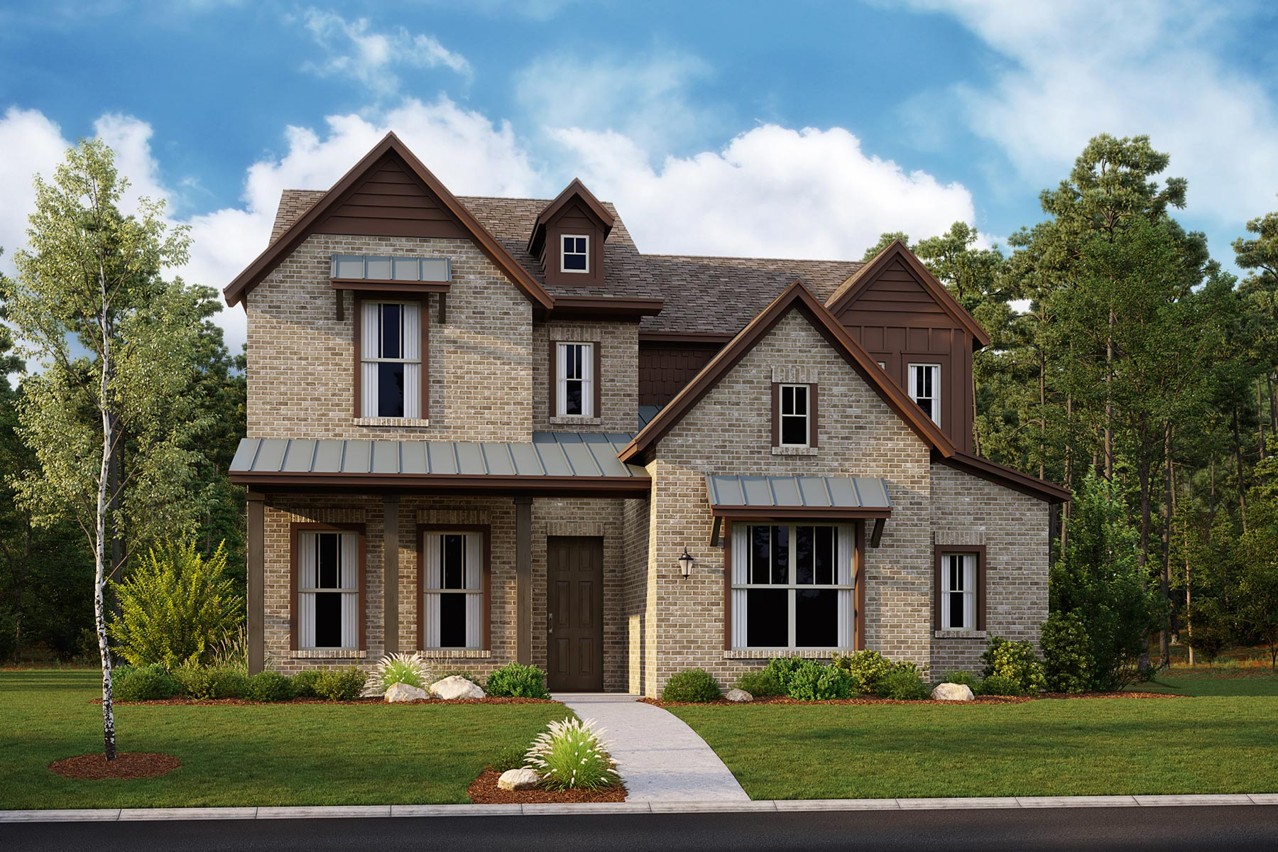 Summit Plan Elevation Front at Kensington Place in Farmers Branch Texas by Mattamy Homes