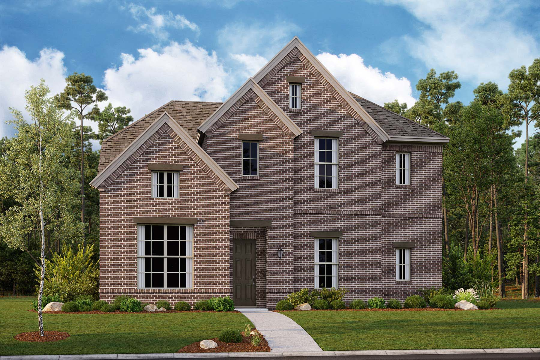 Vanderbuilt Plan Elevation Front at Kensington Place in Farmers Branch Texas by Mattamy Homes